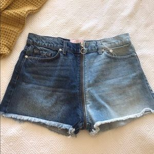 REVICE Denim Zipper Shorts